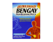 BENGAY PATCH ULTRA STRENGTH PARCHES DOLOR LUMBAR,ESPALDA,CADERA